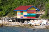 Varicolored beach house, Thailand — Stock Photo