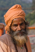 Indian sadhu (holy man). Devprayag, Uttarakhand, India. — Foto de Stock