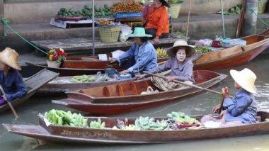 Damnoen Saduak floating market. Bangkok, Thailand — Stock Video