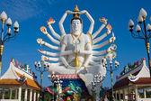 Estátua de shiva, na ilha de koh samui em Tailândia — Fotografia Stock