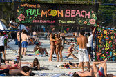 Full moon party in Koh Phangan , Thailand . — Stock Photo