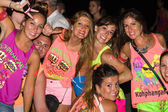 Full moon party in Koh Phangan , Thailand . — Fotografia Stock