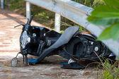 Motorcycle accident — Stock Photo