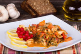 Pollo con verdure — Foto Stock