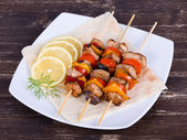 Grilled chicken and vegetable — Stock Photo