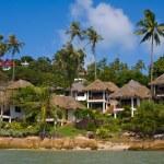 Tropical beach house on the island Koh Samui, Thailand — Stock Photo #47445057