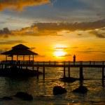 Sunset over the beach, island Koh Kood, Thailand. — Stock Photo #47445373