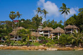 Tropical beach house on the island Koh Samui, Thailand — Stock Photo