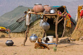Lonely house in the desert near Pushkar, India — Stock Photo