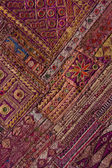 Indian patchwork carpet in Rajasthan, Asia — Foto de Stock