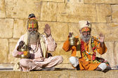 Indian sadhu (holy man) — Stockfoto