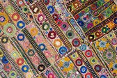 Rajasthani indian patchwork wall cloth — Stock Photo