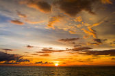 Beautiful sunset on the beach , Thailand. — Stock Photo