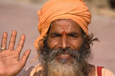 Indian sadhu (holy man).  India. — 图库照片