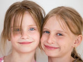 Portrait of the two girl child — Stock Photo