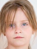 Look young girl closeup — Stock Photo