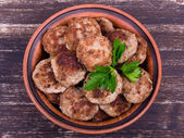 Tasty fried cutlets — Stock Photo