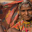 Portrait of a India Rajasthani woman — Stock fotografie #48374153