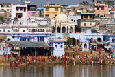 Holy lake in Pushkar, India. — Stock Photo