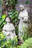 Statue in the courtyard of the old catholic church of the Basilica del Santo Nino. Cebu, Philippines. — Stock Photo