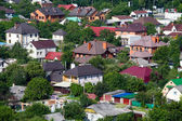 Top view of a house in Kiev, Ukraine. — Stock Photo