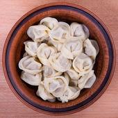 Meat Dumplings - russian boiled pelmeni — Stock Photo
