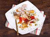 Picked chicken bones — Stock Photo
