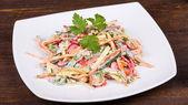 Vegetable salad in cream sauce — Stock Photo