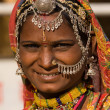 Portrait of a India Rajasthani woman — Stock fotografie #48714051