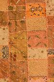 Indian patchwork carpet — Stock Photo