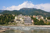 Holy Ganges river in Rishikesh, India. — Stock Photo