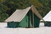 Camp on the Ganges River. India. — Stock Photo