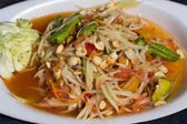 Sıcak ve baharatlı papaya salatası — Stok fotoğraf