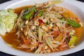 Papaja salade warm en kruidig — Stockfoto