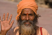 Indian sadhu , holy man — Stock Photo