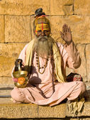 Indian sadhu (holy man) — Stock Photo