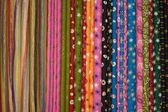 Cloth fabrics at a local market in India. — Stock Photo