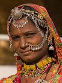 Portret kobiety rajasthani, indie — Zdjęcie stockowe