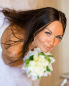 Portrait happy bride — Stock Photo