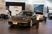 Porsche 911 Carrera S car on display at the Siam Paragon Mall in Bangkok — Stock Photo