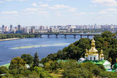 View from the Kiev Pechersk Lavra on the Dnieper River — Stock Photo