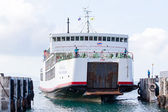 Ferry conveying passengers and goods, Thailand — Stock Photo