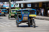Tricycle motor taxi, Philippines — Stock Photo