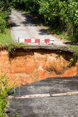 Break of asphalt road in Thailand — Stock Photo