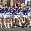 Drummer girls at the parade in Kiev, Ukraine — Stock Photo #51273029