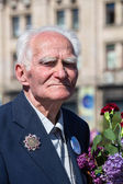 War veteran in the parade in Kiev, Ukraine — Стоковое фото
