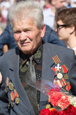 War veteran in the parade in Kiev, Ukraine — 图库照片