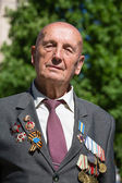 War veteran in the parade in Kiev, Ukraine — Photo