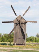 Old wooden windmill in Ukraine — Stock Photo