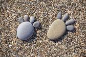 Stone feet — Stock Photo